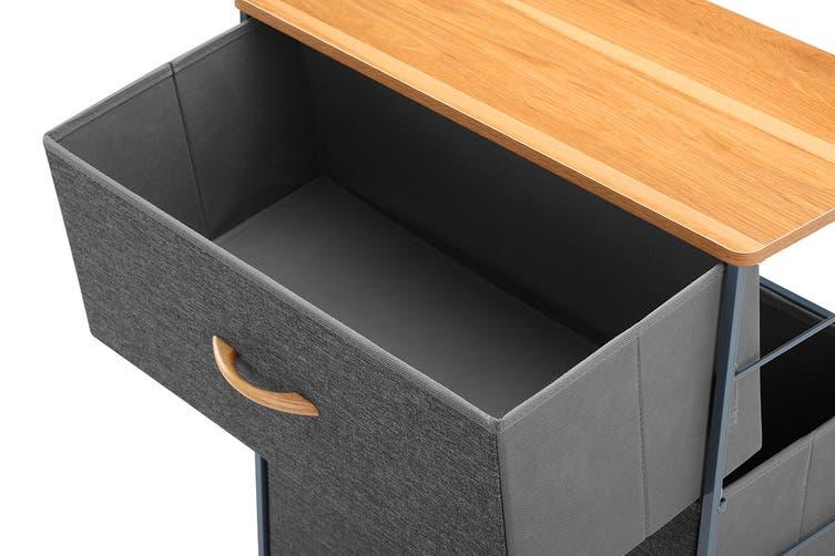 Ovela 4 Drawer Storage Chest (Grey)