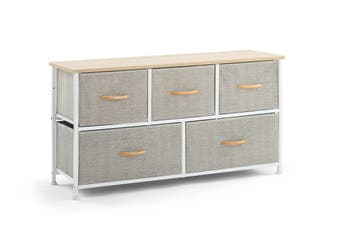Ovela 5 Drawer Storage Chest (Beige)