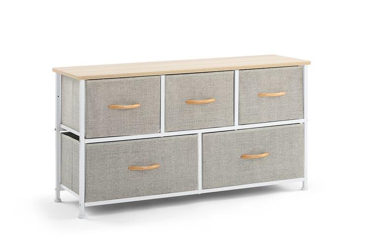 Ovela 5 Drawer Storage Chest (Beige)