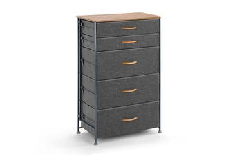 Ovela 5 Drawer Storage Chest (Grey)
