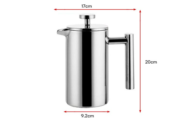 Ovela Stainless Steel Double Wall Coffee Plunger 800ML