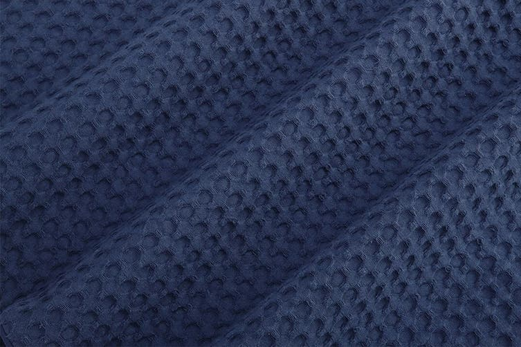 Ovela Deluxe Cotton Waffle Quilt Cover Set (King, Navy)