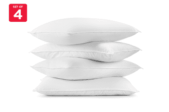 Ovela Set of 4 Hotel Quality Luxury Bounce Fibre Pillows
