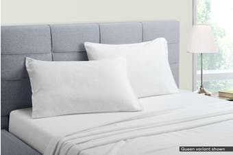 Ovela Cotton Flannelette Bed Sheet Set (King, White)