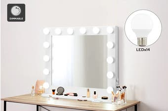 Ovela Hollywood Makeup Mirror with LED Bulbs