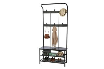 Ovela Hallway 6 Hook Coat Rack (Black)