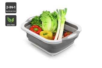 Multi-Function 2-in-1 Chopping Board and Collapsible Strainer