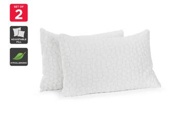 Ovela Set of 2 Adjustable Memory Foam Filled Pillows