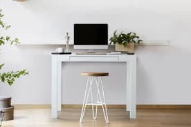 Ovela Compact Office Desk - White