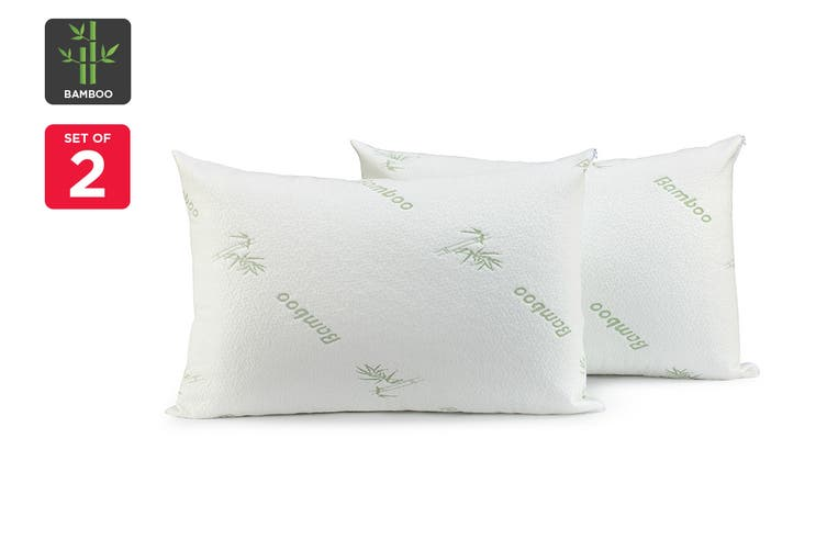 Ovela Bamboo Waterproof Pillow Protectors (Set of 2)