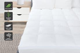 Ovela 1000GSM Bamboo Fibre Pillowtop Mattress Topper