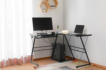 Ovela Corner Desk Edison- Black/Black