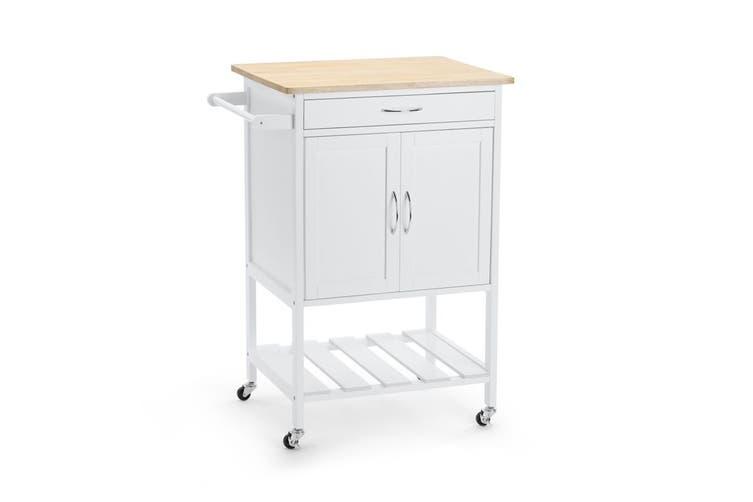 Ovela Edisto Wooden Kitchen Trolley