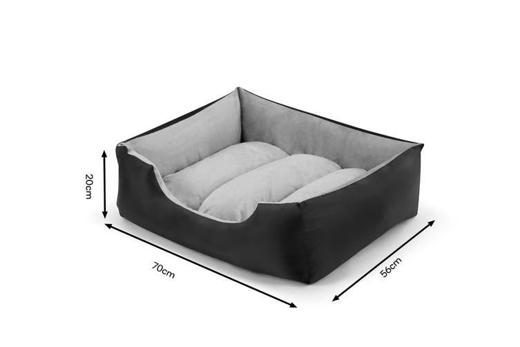 Pawever Pets Deluxe Fleece Dog Bed (Small / Medium)