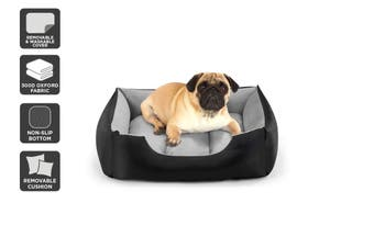 Pawever Pets Deluxe Fleece Dog Bed