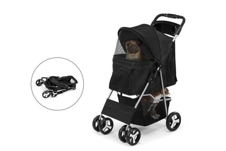 Pawever Pets Foldable Pet Stroller (Black)