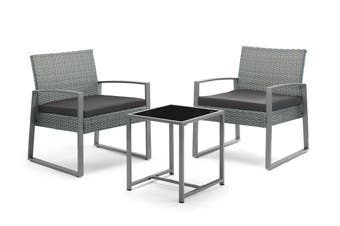 Shangri-La 3 Piece Outdoor Furniture Balcony Set