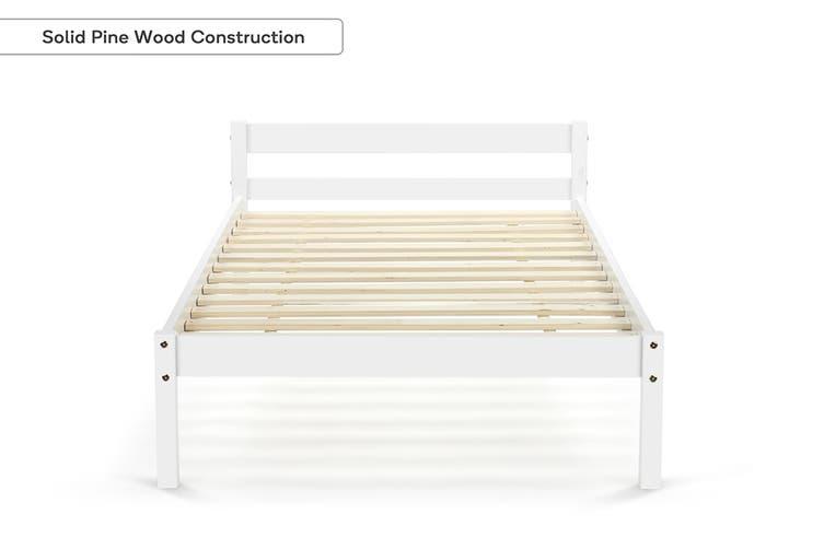 Shangri-La Kids Basic Bed (Single, White)