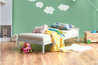 Shangri-La Kids Basic Bed (Single, White)
