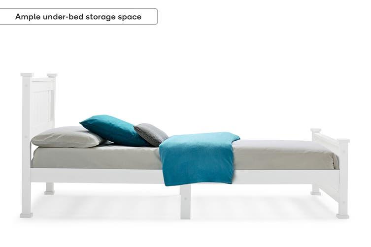 Shangri-La White Bed Frame (Single)