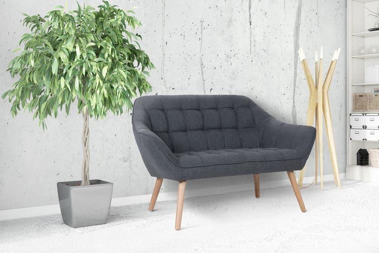 Shangri-La Larsen 2 Seater Sofa (Charcoal Grey)