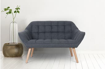 Shangri-La Larsen 2 Seater Sofa (Charcoal Grey)