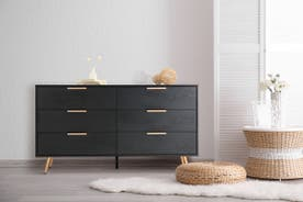 Shangri-La Chest of 6 Drawers - Vienna Collection (Black/Gold)