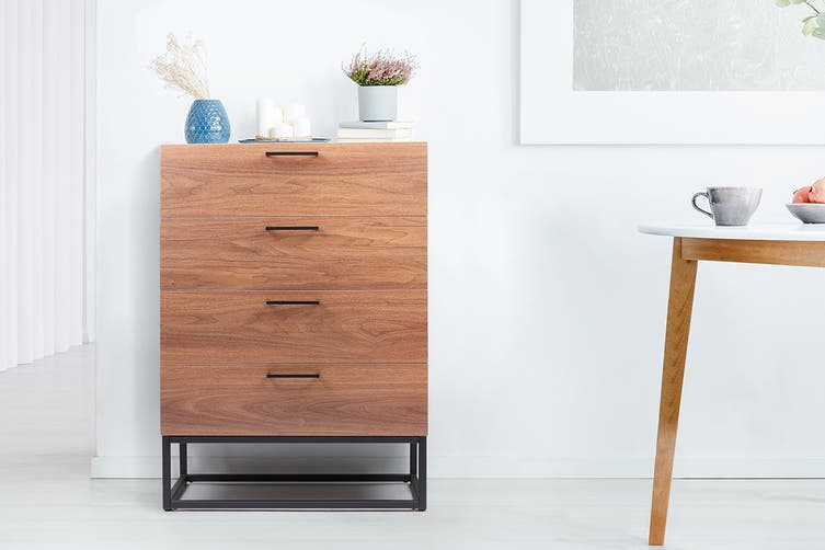 Shangri-La 4 Drawers Chest - Dobson Collection (Walnut)