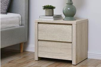 Shangri-La 2 Drawer Bedside Table - Alta Collection (Dusky Oak)