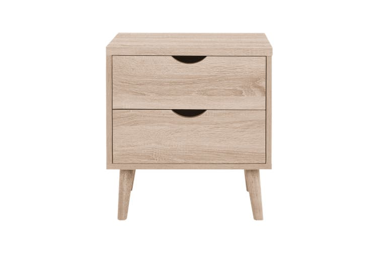 Shangri-La 2 Drawer Bedside Table - Nyhavn Collection (Oak)