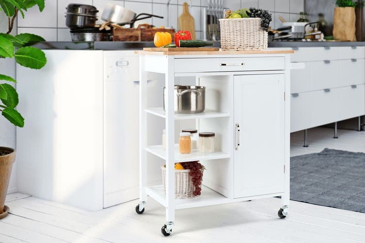 Dick Smith Shangri La Molokai Wooden Kitchen Trolley