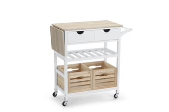 Shangri-La Sapelo Wooden Kitchen Trolley