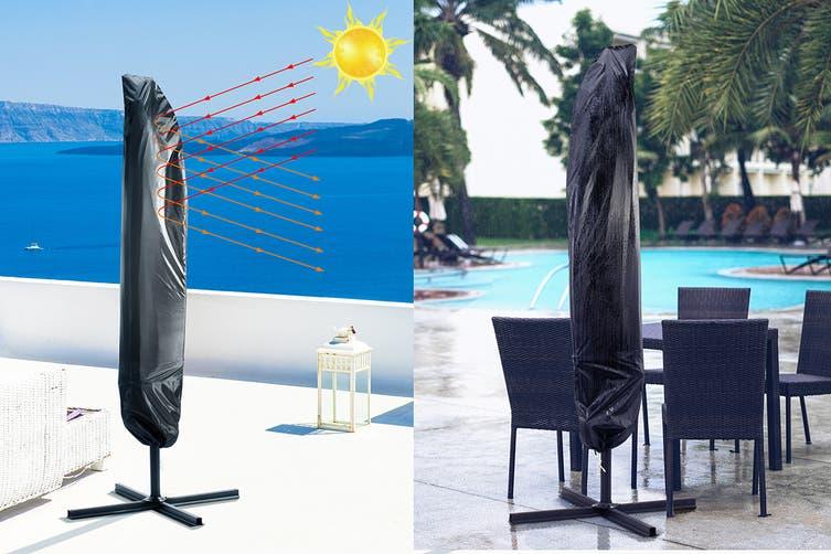 Shangri-La 3 Metre Cantilever Outdoor Umbrella with Bonus Protective Cover (Charcoal)