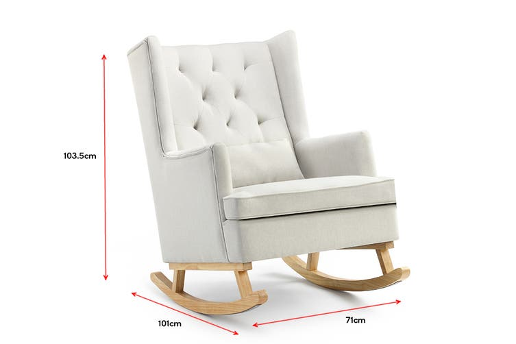 Shangri-La Charlotte Rocking Chair (Beige)