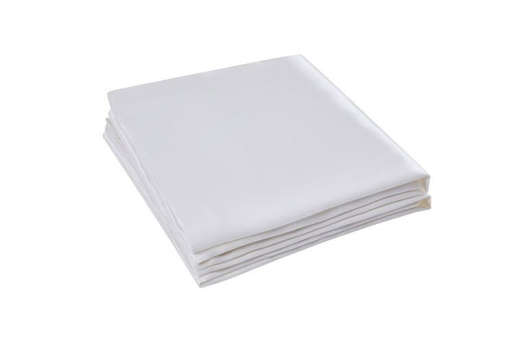 Set of 2 Trafalgar Luxury Two-Sided 100% Mulberry Silk Pillow Cases (White)