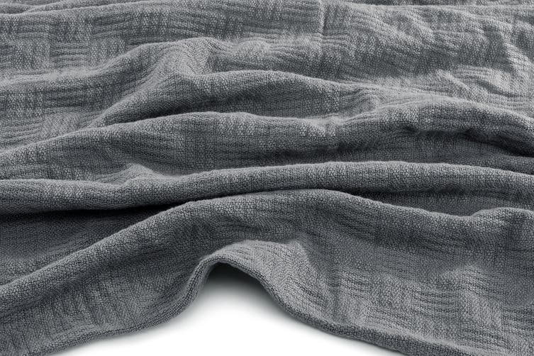 Trafalgar Ultra Soft Cotton Bamboo Blanket (Queen/King, Steel)