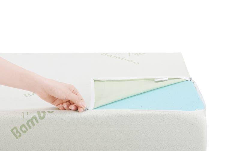 Trafalgar Gel Memory Foam Bed Wedge Pillow with Bamboo Cover