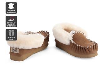 Outback Ugg Moccasins - Premium Sheepskin (Chestnut, Size 13M / 14W US)