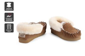 Outback Ugg Moccasins - Premium Sheepskin (Chestnut, Size 9M / 10W US)