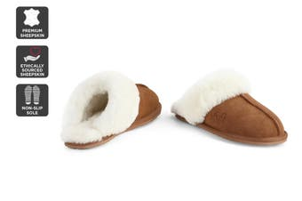 Outback Ugg Slippers - Premium Sheepskin (Chestnut)