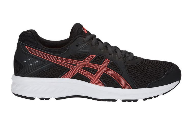 ASICS Women's JOLT 2 Running Shoes (Black/Flash Coral, Size 6.5)