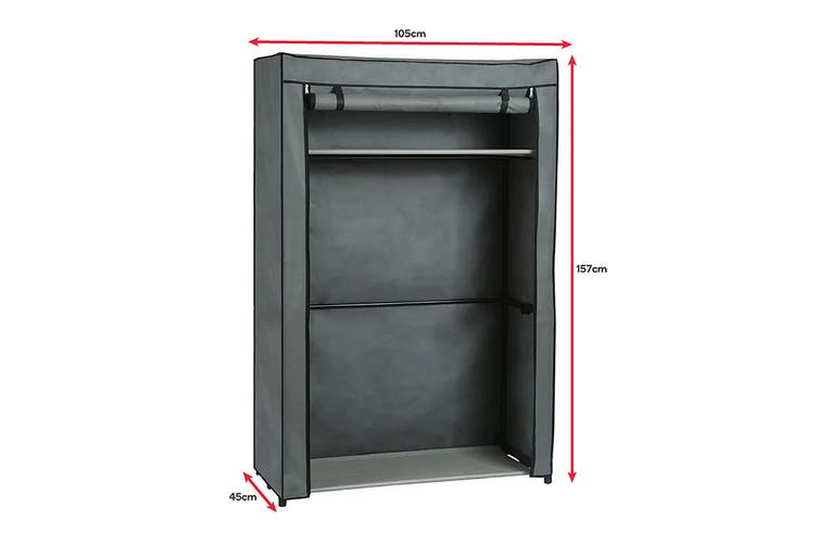 Ovela Large Portable Clothes Storage Organiser (Grey)