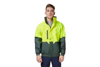 Hard Yakka Two Tone Quilted Pilot Jacket (Yellow/Green)