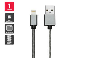 Apple MFI Certified Braided Lightning to USB Cable (1m)