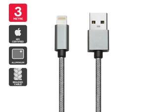 Apple MFI Certified Braided Lightning to USB Cable (3m)