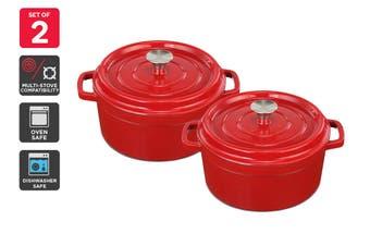 Ovela 20cm & 26cm Cast Iron Casserole Dish Bundle