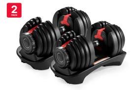 2 Pack Fortis 24kg Smart Adjustable Dumbbell