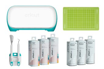 Cricut Joy Starter Bundle with Joy Machine, Starter Tool Set, Smart Vinyl, Transfer Tape & Standard Grip Mat