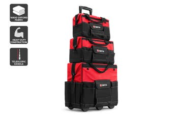 Certa Premium Heavy Duty Trolley Tool Bags 3 Piece Set