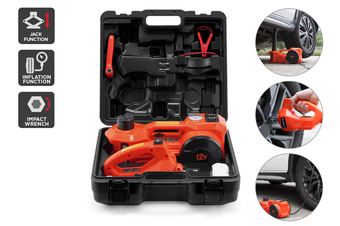 Certa 3-in-1 Tyre Repair Tool Kit with Electric Jack & Wrench